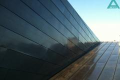 Фрагмент фасада облицованный медью оксидированной. Частный жилой дом, Конча-Заспа.