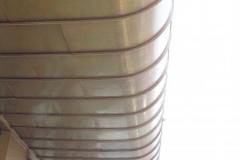 Козырек балкона облицован медью классической. Жилой дом, ул.Московская,27, Киев.