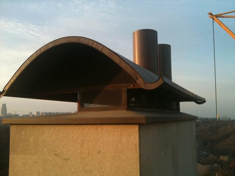 Флюгарка на дымоход, Киев, медь классическая.
