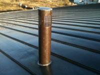 Облицовка вентиляционного канала, Конча-Заспа, медь оксидированная.