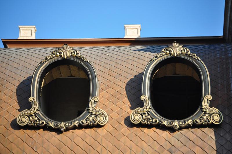 Декоративные обрамления окон, Киев, полимерное литье.