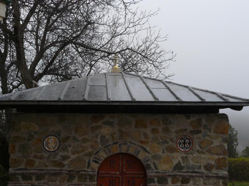 Альтанка Свято-Троицкого Ионинского монастыря, Киев, свинец листовой.