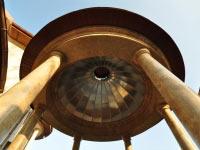 Внутренняя облицовка купола беседки, Киев, радиусный фальц, алюминий..