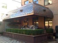 Кровля барбекю, Киев, шашка, медь классическая.